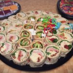 Wraps tray with side salad and desserts