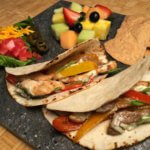 Build your own fajitas with seared beef and chicken